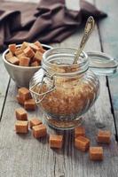 zucchero candito marrone foto