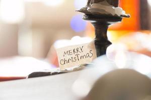 decorazione di Natale con spazio di copia foto