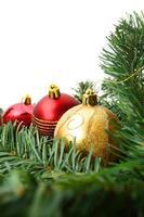 sfondo con spazio di copia: decorazioni natalizie foto