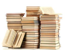 vecchi libri isolati su bianco