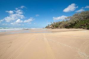 spiaggia dell'isola di Fraser. foto