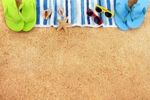 spiaggia sfondo bordo copia spazio foto