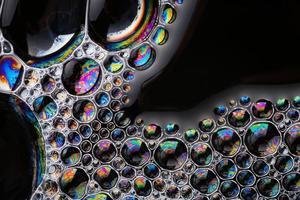 bolle di sapone astratto macro struttura copia spazio