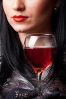 bicchiere di vino rosso foto