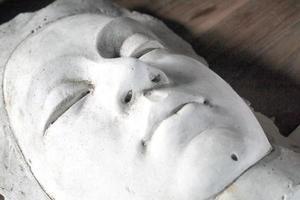 maschera in gesso foto