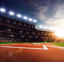 grande arena di baseball professionale alla luce del sole foto
