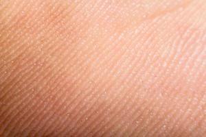 chiudere la pelle umana. macro epidermide foto