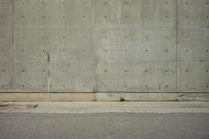 muro di cemento e pavimento in cemento per copia spazio foto