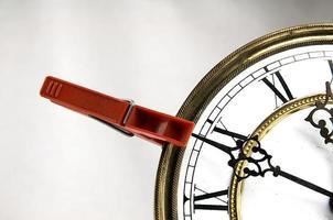 molletta ferma l'orologio foto