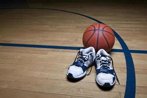 sfondo del campo da basket foto