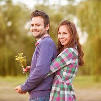 giovane coppia innamorata. foto