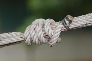 primo piano del nodo della corda foto