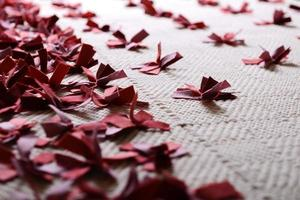 primo piano tappeto a maglia foto