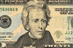 primo piano della faccia del dollaro foto