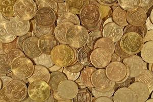 le monete ucraine si chiudono su foto