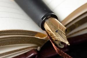penna stilografica da vicino foto