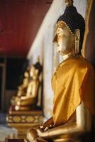 primo piano della statua di Buddha. foto