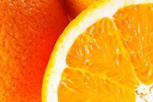alto vicino dell'arancia. macro.
