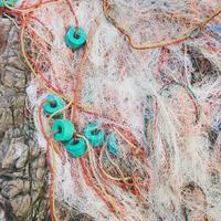 reti da pesca da vicino foto