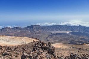 la vista dal picco del Teide foto