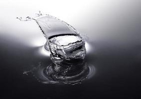 primo piano di gocce d'acqua foto