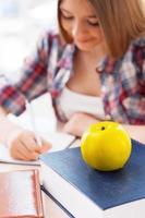 studentessa fiduciosa. foto