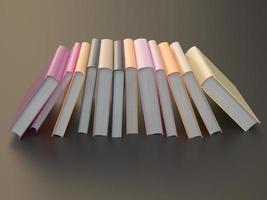 modello di mockup libro di colore vuoto su sfondo nero foto