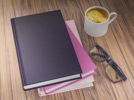 modello vuoto mockup di libri colorati. alta risoluzione. foto