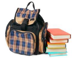 zaino e libri per la scuola.