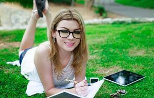 studiare all'aperto foto