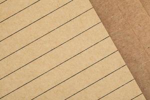 foglio di quaderno realizzato in carta riciclata come sfondo