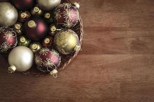 tabella aerea degli ornamenti di natale