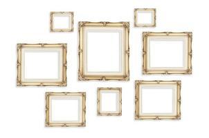 cornici d'epoca isolati su sfondo bianco, modello finto foto