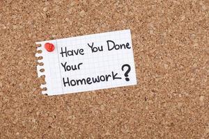 Hai fatto i tuoi compiti