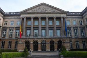 costruzione del parlamento federale belga foto