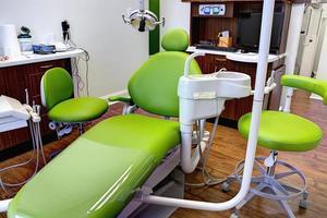 poltrona per visita odontoiatrica foto