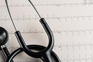 visita medica, elettrocardiogramma, medicina del cuore e terapia foto