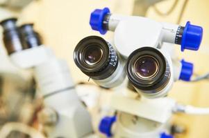 attrezzatura medica ottica per visita oculistica foto