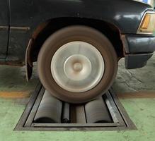 sistema di prova dei freni dell'auto foto