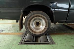 sistema di prova dei freni dell'auto