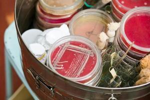 piastre di Petri e provette foto
