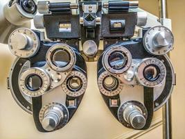 phoropter -diopter - dispositivo di test del sito oculare foto