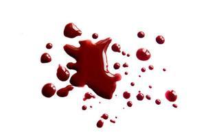 macchie di sangue (goccioline) foto