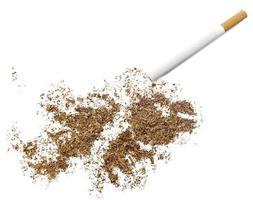sigaretta e tabacco a forma di isole falkland (serie) foto