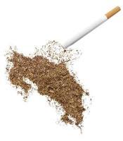sigaretta e tabacco a forma di costa rica (serie) foto