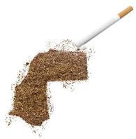 sigaretta e tabacco a forma di sahara occidentale (serie) foto