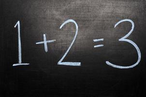 concetto di lavagna matematica foto