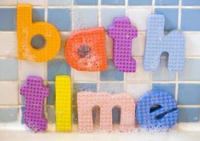 estratto delle lettere di tempo del bagno foto