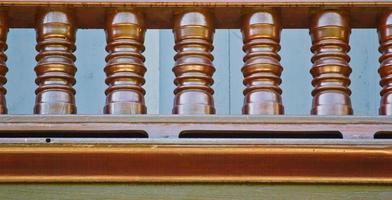 corrimano per scale in legno foto