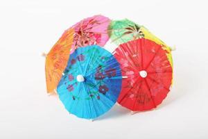 Ombrelli di carta da cocktail foto